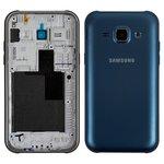 Housing compatible with Samsung J100H/DS Galaxy J1, (dark blue)