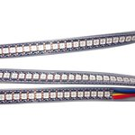 RGB LED Strip SMD5050, WS2813 (with controls, black, IP67, 5 V, 144 LEDs/m, 1 m)