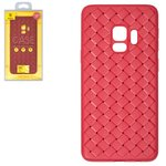 Case Baseus compatible with Samsung G960 Galaxy S9, (red, braided, plastic) #WISAS9-BV09