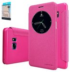 Case Nillkin Sparkle laser case compatible with Samsung N930FGalaxy Note 7, (pink, flip, PU leather, plastic) #6902048126213