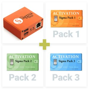 Sigma Box con juego de cables y Packs 1, 2, 3 activados