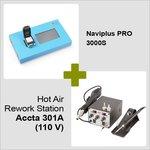 Naviplus PRO 3000S + Estación de soldadura de aire caliente Accta 301A (110 V)