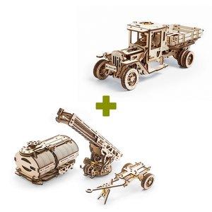 Механический 3D-пазл UGEARS Набор 2 в 1: UGM-11 Грузовик + Дополнения