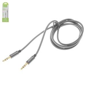 AUX-кабель Hoco UPA03, с TRS 3,5 мм на TRS 3,5 мм, 100 см, серый, в нейлоновой оплетке
