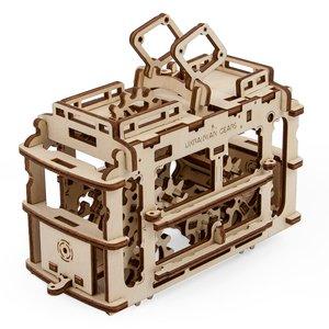 """Rompecabezas mecánico 3D UGEARS """"Tranvía"""""""