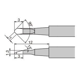 Punta de recambio para pinzas térmicas Goot XST-80HRT-1C